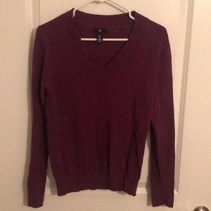 Gap Eggplant purple sweater